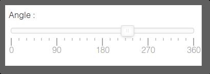 Slider pour définir l'angle du cadran